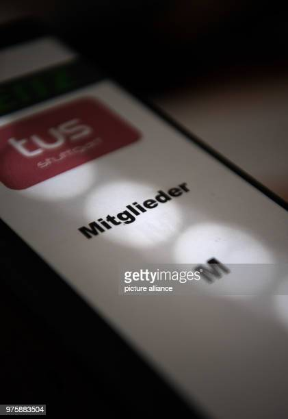 Light shines on a folder withmembership applications of the sports club TUS Stuttgart The new EU data protection regulation will be implemented on...