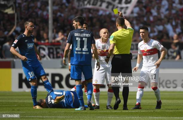 05 May 2018 Germany Stuttgart Soccer Bundesliga VfB Stuttgart vs 1899 Hoffenheim 33rd day of play at the Mercedes Benz Arena Referee Felix Zwayer...