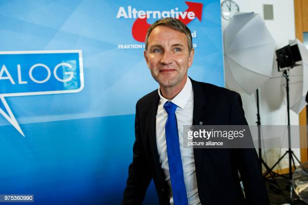 May 2018, Germany, Thuringia: The chair of Thuringia's state parliament faction of the Alternative for Germany , Bjoern Hoecke, arriving for the...