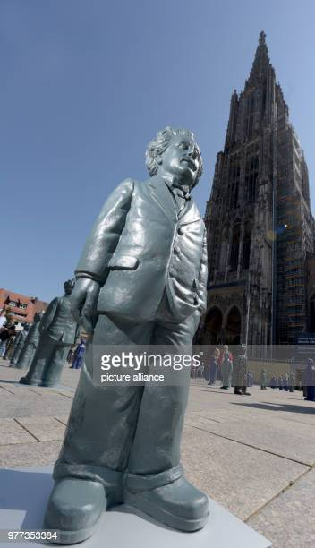 Small statues of Albert Einstein at Muensterplatz The 500 approximately 1metre tall Einstein statues are set to remain at Muensterplatz for several...