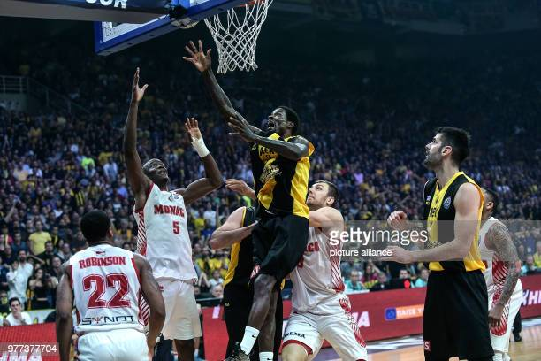 Basketball Champions League AS Monaco vs AEK Athens Final Athens' Manny Harris in action Photo Angelos Tzortzinis/dpa