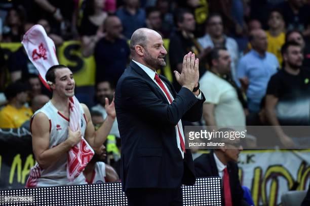 Basketball Champions League AS Monaco vs AEK Athens Final Monaco's coach Zvezdan Mitrovic Photo Angelos Tzortzinis/dpa