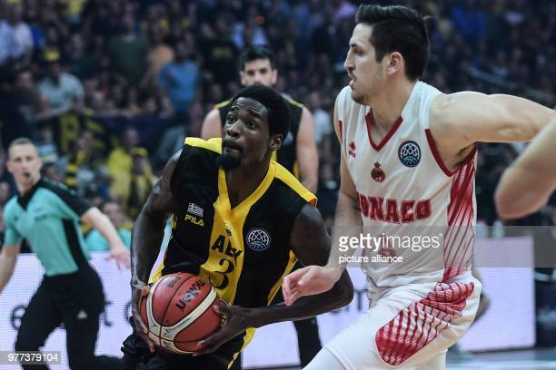 Basketball Champions League AS Monaco vs AEK Athens Final Athens' Mike Green in action Photo Angelos Tzortzinis/dpa