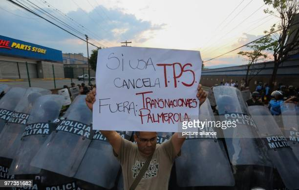 A man protests against the TPSdecision of the US to revoke the protection status of 50000 people Who at the current moment only has temporary permit...