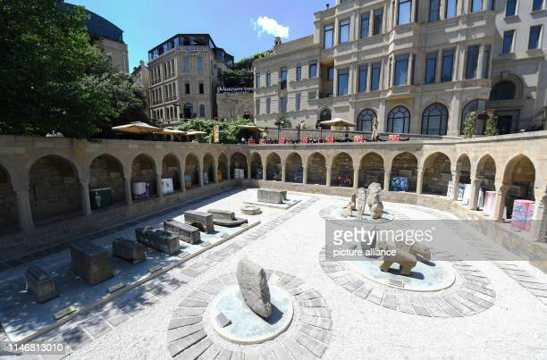 May 2019, Azerbaijan, Baku: Ruins of the historical market place in the old town of Baku. The capital of Azerbaijan is located on the Caspian Sea and...