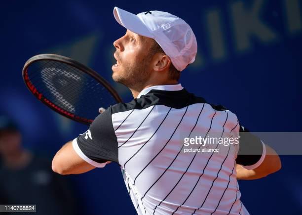 May 2019, Bavaria, Munich: Tennis: ATP-Tour - Munich, doubles, men, 2nd round: Nielsen / Pütz - Krajicek / Sitak . Tim Pütz in action. Photo: Sven...