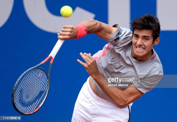 Tennis ATPTour Munich Individual Men Semifinal Garin Cecchinato Christian Garin strikes Photo Sven Hoppe/dpa