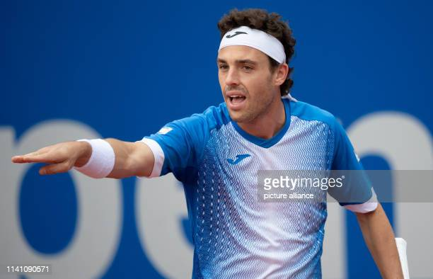 Tennis ATPTour Munich Individual Men Semifinal Garin Cecchinato Marco Cecchinato in action Photo Sven Hoppe/dpa