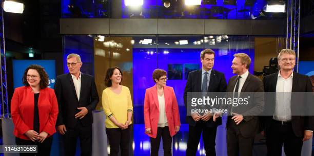 Andrea Nahles Federal Chairman of the SPD Bernd Riexinger Party Chairman Die Linke Annalena Baerbock Federal Chairman Bündnis 90/Die Grünen Annegret...