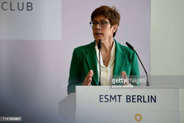 CDU Chairwoman Annegret KrampKarrenbauer speaks at the book launch Europe can do better how our continent is finding new strength A wakeup call to...