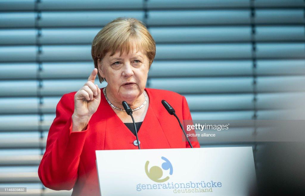 "DEU: Chancellor Merkel Speaks At The ""Generation Bridge"""