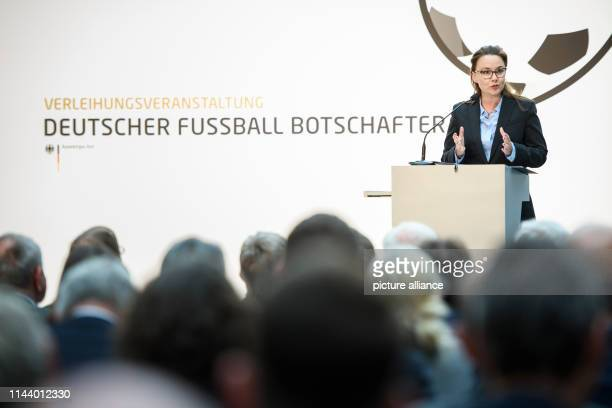 Michelle Müntefering Parliamentary State Secretary for International Cultural and Educational Policy at the Federal Foreign Office speaks to the...