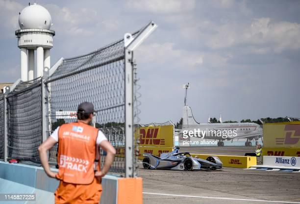 Motorsport Preview Formula E Championship ePrix race at Tempelhof Airport Felipe Massa of Team Venturi drives test laps on the race track during...
