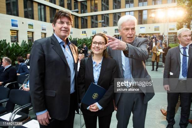 Roland Bischof President of the Association of German Football Ambassadors Michelle Müntefering Parliamentary State Secretary for International...