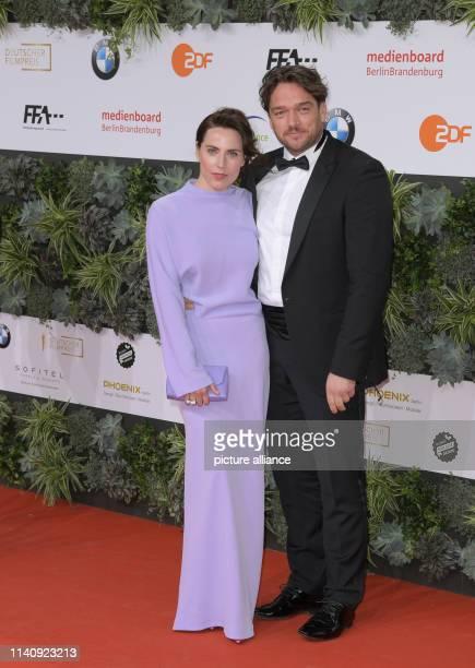 The actors Christina Hecke and Ronald Zehrfeld attend the 69th German Film Award Lola Photo Jörg Carstensen/dpa