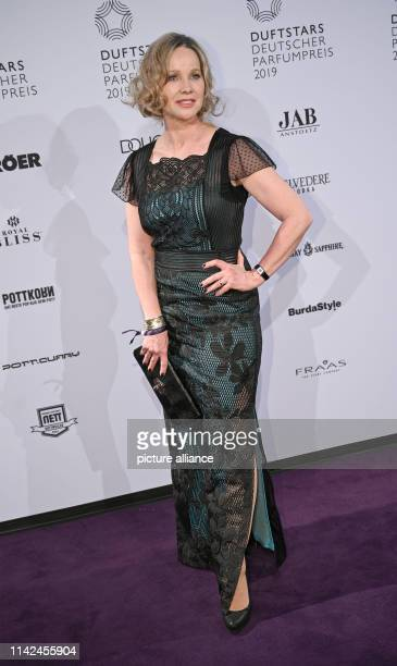 The actress AnnKathrin Kramer comes to the presentation of the fragrance star the German Perfume Award 2019 in the Düsseldorf Rheinterrasse The...