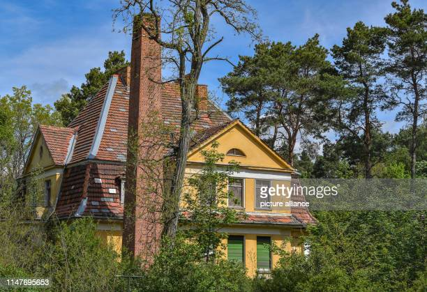 May 2019, Brandenburg, Wünsdorf: The former military area House of Officers with the building Kommandeur-Haus . The area was a military gymnasium ,...