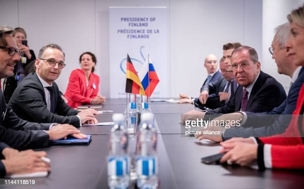 May 2019, Finland, Helsinki: Heiko Maas , Foreign Minister, and Sergei Lavrov , Foreign Minister of Russia, will meet for bilateral talks in the...