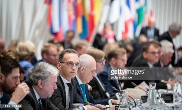 May 2019, Finland, Helsinki: Heiko Maas , Foreign Minister, attends the meeting of the Committee of Ministers of the Council of Europe in Helsinki....