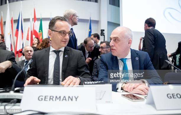May 2019, Finland, Helsinki: Heiko Maas , Foreign Minister, attends the meeting of the Committee of Ministers of the Council of Europe in Helsinki...