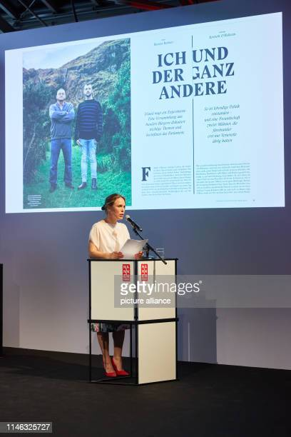 The actress Anneke Kim Sarnau will be on stage at the Gruner Jahr publishing house during the presentation of the Nannen Prize Categories Photo Georg...
