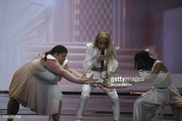 Bilal Hassani from France performs in the final of the Eurovision Song Contest 2019 Photo Ilia Yefimovich/dpa