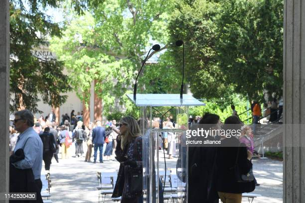A lectern will open in front of the German Pavilion at the Art Biennale Venice 2019 The international art exhibition starts on and ends on Photo...