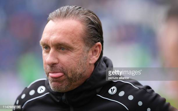 Soccer Bundesliga 33rd matchday Hannover 96 SC Freiburg in der HDIArena in Hannover Hanover's coach Thomas Doll is in the arena before the game Photo...