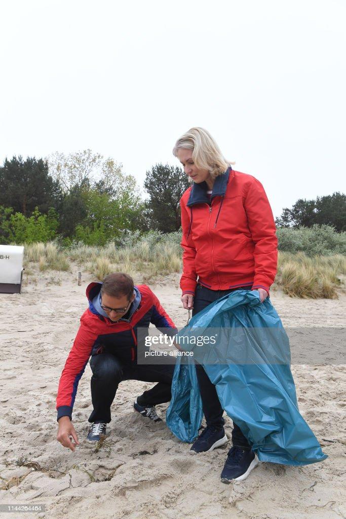 DEU: Beach Cleaning On Usedom