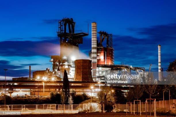 15 May 2019 North RhineWestphalia Duisburg Blast furnaces 9 and 8 from ThyssenKrupp The steel and industrial group Thyssenkrupp is feeling the...