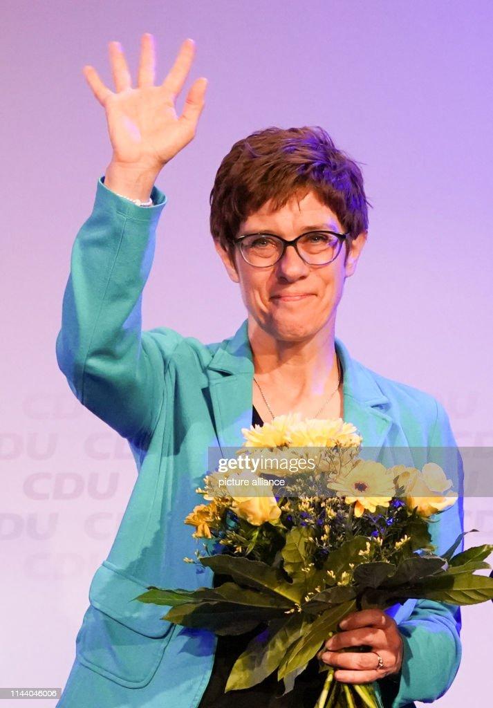 DEU: Election Event With Kramp-Karrenbauer