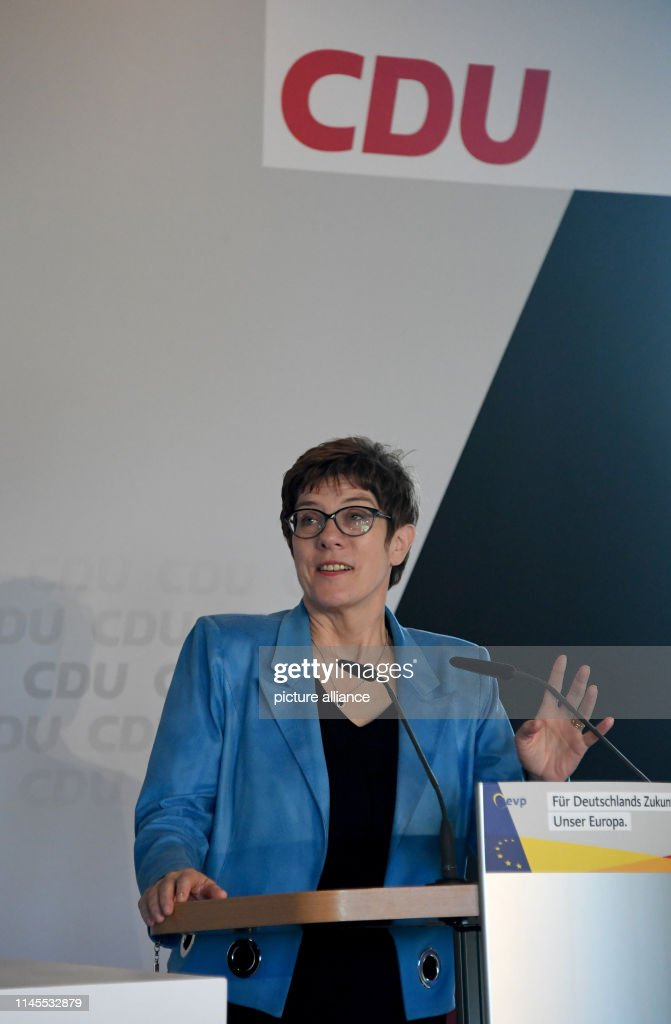DEU: CDU Chairwoman Kramp-Karrenbauer In Election Campaign In Kiel