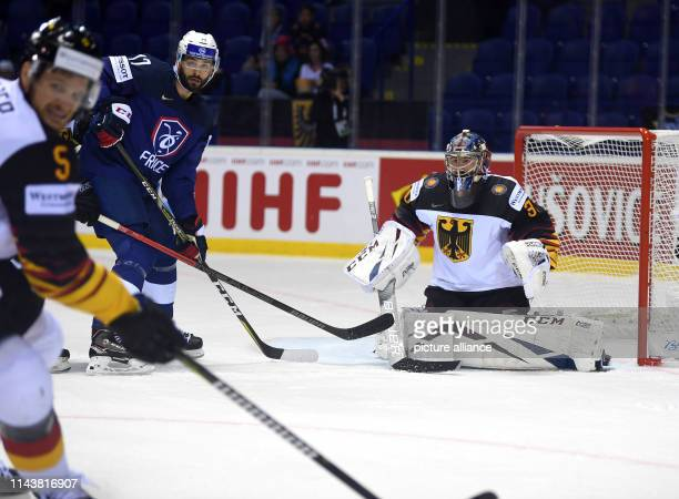 Ice hockey WM Germany France preliminary round group A 3rd matchday in the Steel Arena Germany's goalkeeper Philipp Grubauer in action Photo Monika...