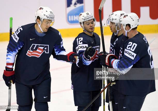 Ice hockey WM USA Great Britain preliminary round group A 4th matchday in the Steel Arena James van Riemsdyk from the USA goal scorer to 10 cheers...
