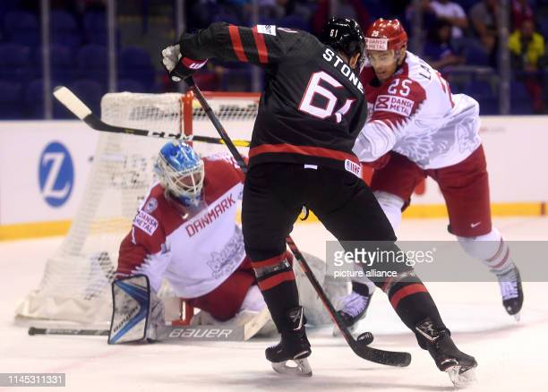 Ice hockey World Championship Canada Denmark preliminary round Group A 6th matchday in the Steel Arena Canada's Mark Stone in action against...