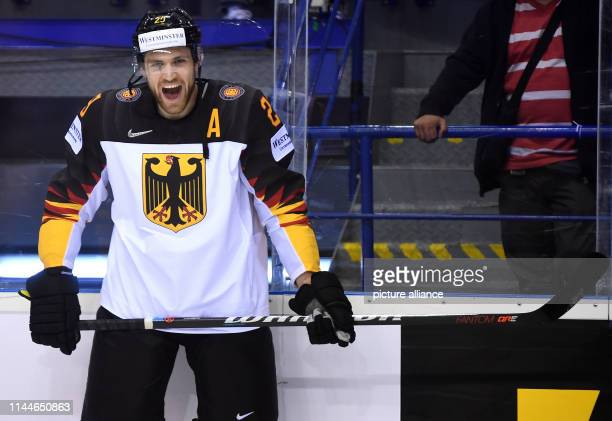 Ice hockey World Championship Canada Germany preliminary round Group A 5th matchday in the Steel Arena Germany's Leon Draisaitl laughs at the warmup...
