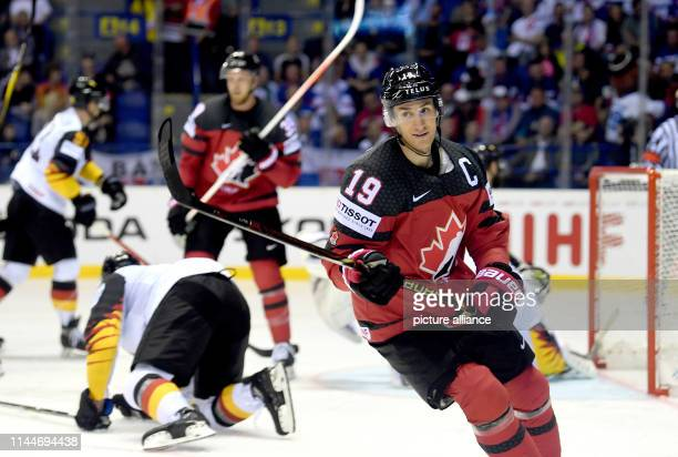 Ice hockey World Championship Canada Germany preliminary round Group A 5th matchday in the Steel Arena Canada's Kyle Turris cheers at the 61 goal...