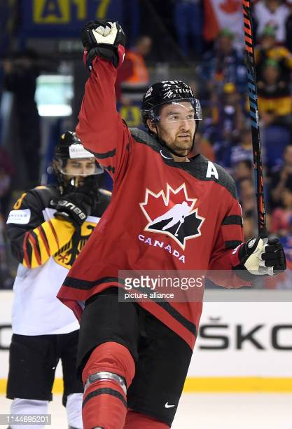 Ice hockey World Championship Canada Germany preliminary round Group A 5th matchday in the Steel Arena Canada's scorer to 41 Mark Stone cheers over...