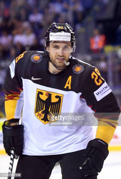 Ice hockey World Championship Denmark Germany preliminary round Group A 2nd matchday in the Steel Arena Germany's Leon Draisaitl crosses the ice...