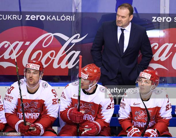 Ice hockey World Championship Denmark USA preliminary round Group A 5th matchday in the Steel Arena Denmark's coach Heinz Ehlers follows the game...