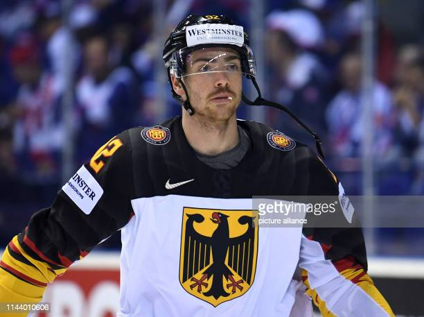 Ice hockey World Championship Germany Slovakia preliminary round Group A 4th matchday in the Steel Arena Germany's Marcel Noebels at the warmup Photo...