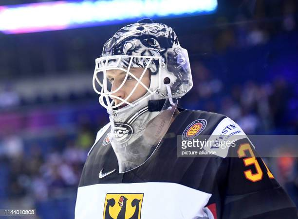 Ice hockey World Championship Germany Slovakia preliminary round Group A 4th matchday in the Steel Arena Germany's goalkeeper Niklas Treutle at the...
