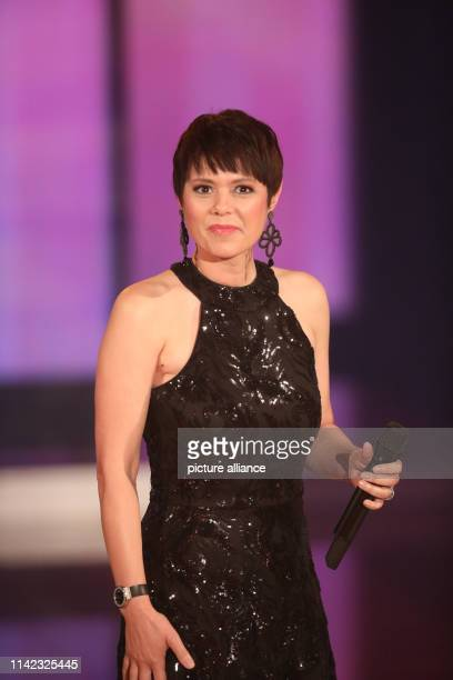 Francine Jordi during the recording of the television program The Great Mother's Day Show in the Stadthalle in Altenburg The programme will be...