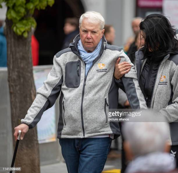 Prince Andreas of SaxonyCoburg and Gotha is supported by a companion after his bike tour The direct descendant of Queen Victoria and her Coburgborn...