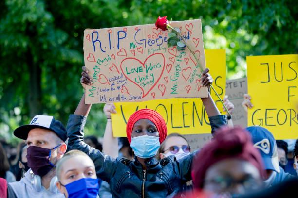 DEU: Demonstrations In Berlin For George Floyd