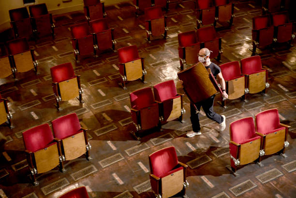 DEU: Berliner Ensemble Thins Out Chairs