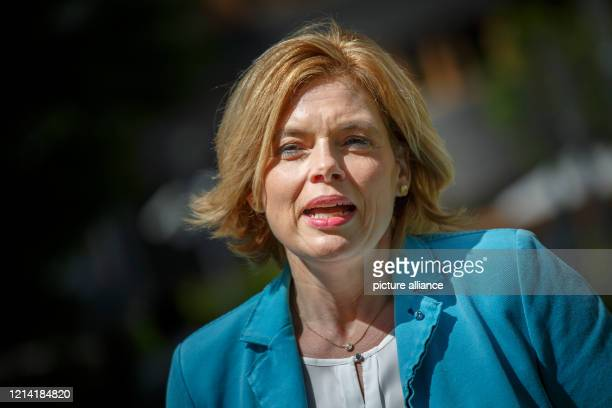 Julia Klöckner , Federal Minister of Food and Agriculture, speaks at a press conference on the occasion of World Apiary Day about the measures to...