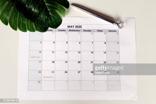 may 2020 calendar folder - may stock pictures, royalty-free photos & images