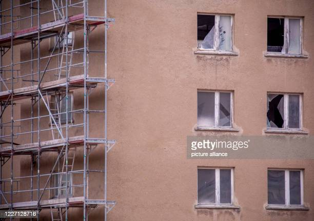 May 2020, Mecklenburg-Western Pomerania, Prora: View of a building part of block 5 in the listed complex Prora, which is still under reconstruction....