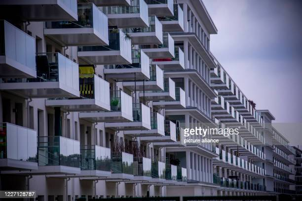 May 2020, Mecklenburg-Western Pomerania, Prora: View of blocks in the southern section of the listed Prora complex that have already been renovated...